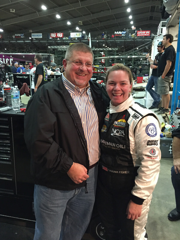 LeRoy & Race Legend Sarah Fisher